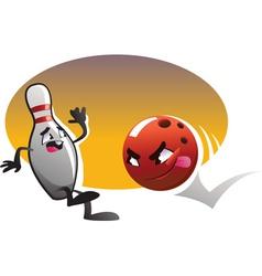 cartoon bowling vector image