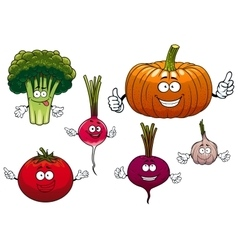 Cartoon isolated funny vegetable characters vector