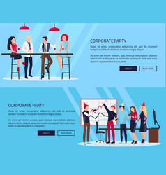 celebration of success on vector image