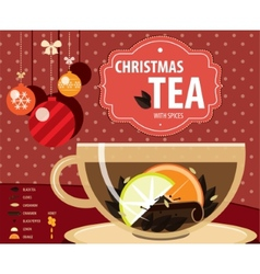 Christmas tea vector