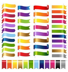 Color Set Web Ribbons vector image vector image