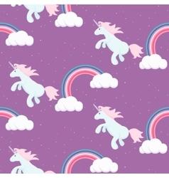 Cute unicorn child seamless pattern vector