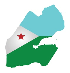 Djibouti Flag vector image vector image