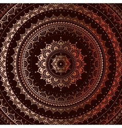 Gold mandala vector image