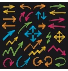 Highlighter Arrows Design Elements vector image vector image