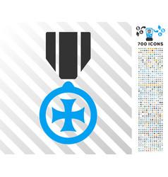 Maltese cross flat icon with bonus vector