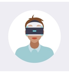 Man in the virtual reality headset vector image