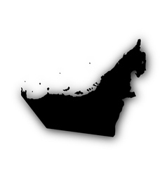Map of the United Arab Emirate with shadow vector image vector image