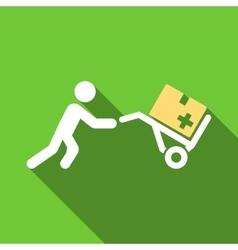 Medical Shopping Flat Long Shadow Square Icon vector image vector image