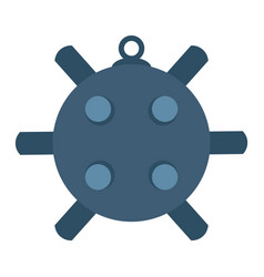 Naval mine isolated icon sea vector