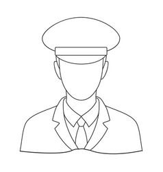 Postmanmail and postman single icon in outline vector
