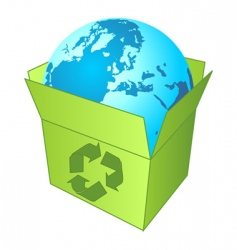 recycling the planet vector image