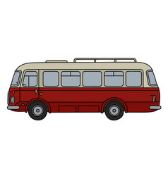 Retro red bus vector