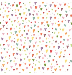 Seamless background with colorful hearts and vector image vector image