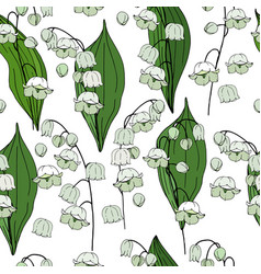 seamless floral decorative pattern with lilies of vector image vector image