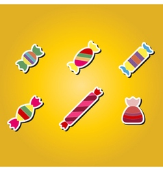 set of color icons with candy vector image vector image
