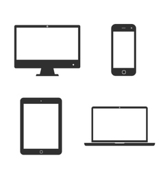Set of icons electronic devices vector image vector image