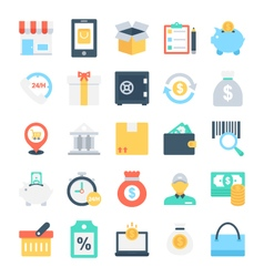 Shopping and e-commerce icons 3 vector