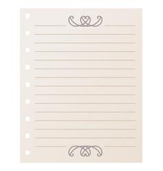 striped notebook sheet element vector image