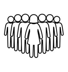 teamwork pictogram symbol vector image