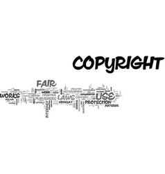 What is fair use text word cloud concept vector