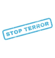 Stop terror rubber stamp vector