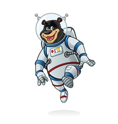 Bear astronaut vector
