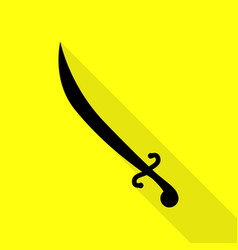 Sword sign  black icon with flat vector