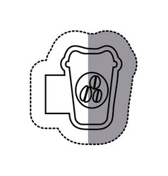Figure emblem coffee espresso icon vector