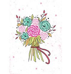 beautiful wedding bouquet isolated on background vector image
