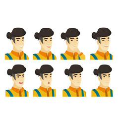 Set of farmer characters vector