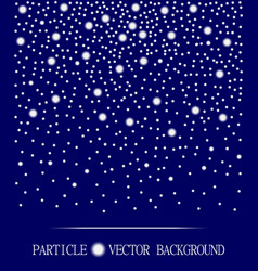Abstract falling snow particles dark blue vector