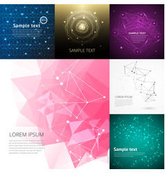 Abstract background graphic digital line colorful vector