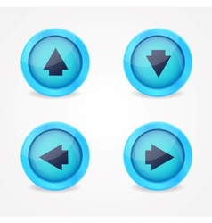 Set of glossy icons with arrows vector image