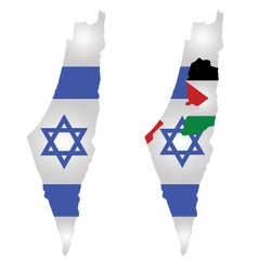 Israel Map Flag vector image