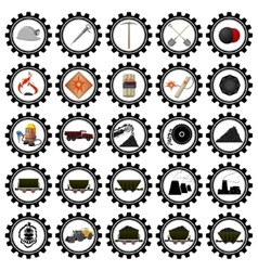 Badges coal industry-1 vector