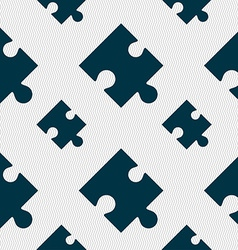Puzzle piece icon sign seamless pattern with vector