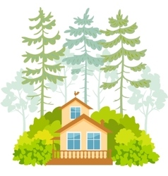 houses and forest vector image
