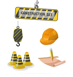 Construction symbol icon object set a vector