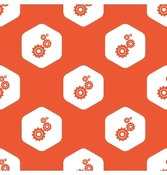 Orange hexagon settings pattern vector