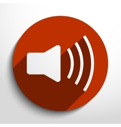 Loudspeaker web icon vector