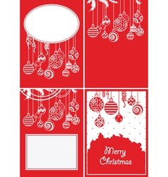Christmas ball backgrounds vector