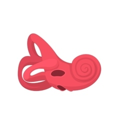 Inner ear cartoon icon vector