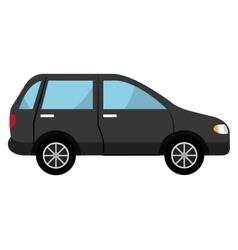 black suv car graphic vector image