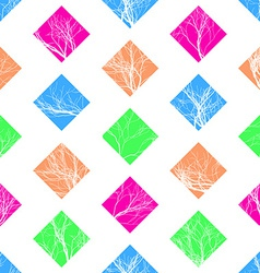 Abstract Colorful Squares Seamless Pattern vector image