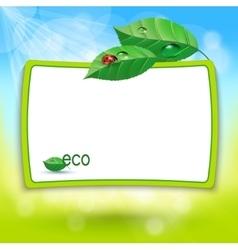 abstract Natural eco green lives vector image vector image