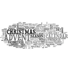Advent calendar revisited text word cloud concept vector