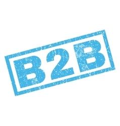 B2b rubber stamp vector