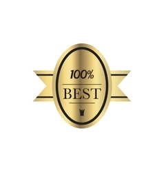Best quality 100 percent guaranteed golden label vector image