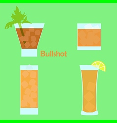 bullshot cocktail vector image